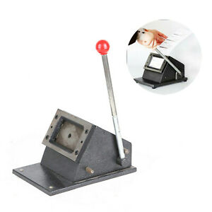 Heavy Duty Photo Id Badge Credit Pvc Paper Manual Die Round Corner Cutter Punch