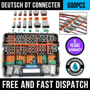 600 Pcs Deutsch Dt Genuine Connector Kit 14 16awg Stamped Contacts