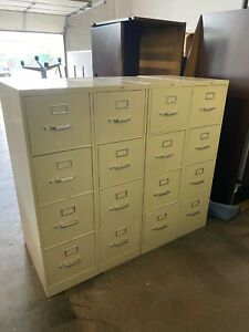 4dr 15 w X 26 1 2 d X 52 h Letter File Cabinet By Hon Office Furniture In Putty