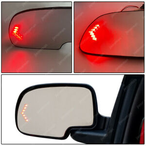 Mirror Glass Heated Heated Driver Side Lh For 03 07 Chevy Sliverado Gmc Cadillac