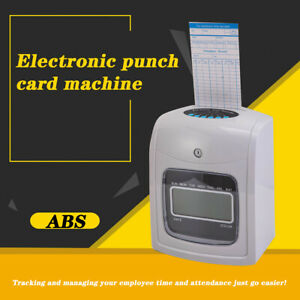 Punch Time Clock Employee Attendance Payroll Recorder Lcd Display W 50 Cards Us
