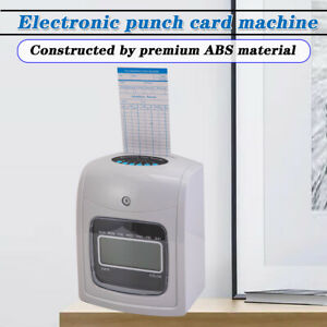 Employee Punch Time Clock Attendance Payroll Recorder Lcd Display W 50 Cards Us