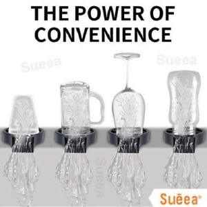 Quick Cup Washer Faucet Glass Rinser For Kitchen Sink Automatic Bottle Washer