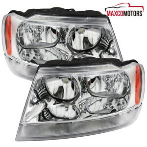 For 1999 2004 Jeep Grand Cherokee Headlights Turn Signal Corner Lamps Left Right
