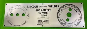 Lincoln Electric Arc Welder Sa 200 f 162 Mirrored Poly Aluminum Panel M6549