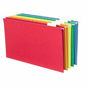 Smead Hanging File Folder With Tab 1 5 cut Adjustable Tab Legal Size Assorted