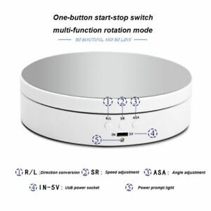 360 Electric Rotating Turntable Display Stand Photography Video Dispaly Tool Us