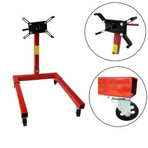 1250 Lbs Engine Stand Motor Hoist Dolly Mover Car Auto Repair Rebuild Jack