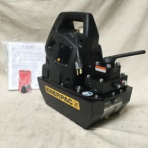 Enerpac Zu4308mb High Force Hydraulic Electric Pump Manual 3 Way position Valve