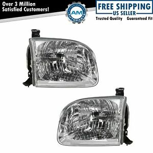 Headlights Headlamps Left Amp Right Pair Set For Toyota Sequoia Tundra Truck