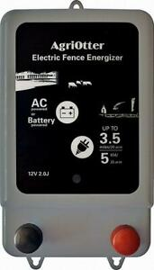 Agriotter Electric Fence Energizer 20 Acre 2 In 1 Powered By Battery Or Ac 2j