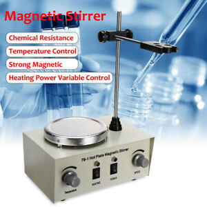 Hot Plate Magnetic Stirrer Electric Mixer Stirring Lab Dual Control Heavy Duty