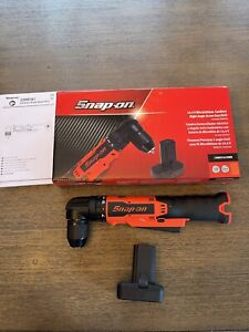 Snap On Cdrr761owb Right Angle Drill 3 8 14 4v Brand New Orange With Battery