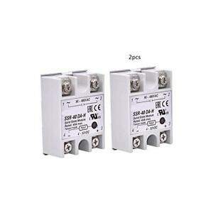 2pcs Ssr 40da Solid State Relay Single Phase Semi conductor Relay Input 3 32v