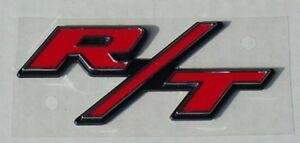 New Plastic Red R T Stick On Emblem Charger Truck Dodge