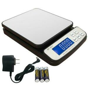 110 Lb X 0 1 Oz Digital Shipping Scale Postal Scale Backlit Lcd With Ac Adapter