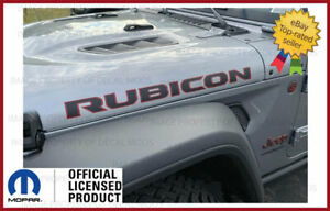 18 22 Jeep Wrangler Rubicon Hood Decals Graphics Stickers Jl Red Black Fj5t6