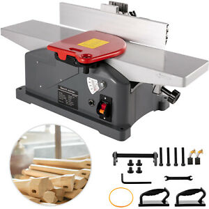 6 Inch Benchtop Jointer 10 amp Spiral Planer Corded Woodworking 9000prm 1280w