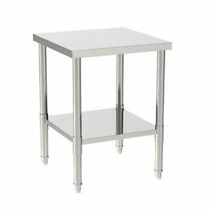 24 X 24 X 32 Commercial Stainless Steel Food Prep Work Table Kitchen Silver