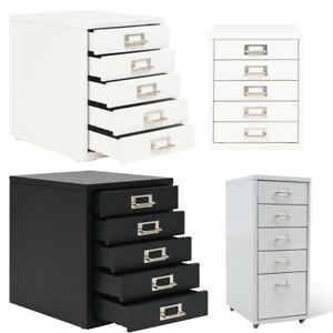 Large File Cabinet With 5 Drawers Metal Steel Storage Office Organiser Office