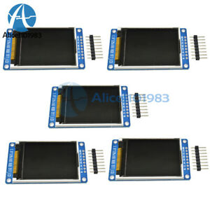 1 2 5pcs 1 8 Tft Full Color Lcd Display 128 160 Serial Spi St7735s For Arduino