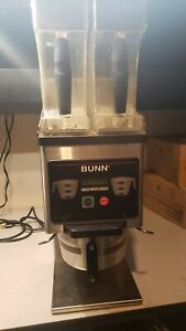 Bunn Grinder Mhg Double Removeable Hoppers Commercial Coffee Grinder