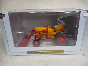 Speccast Minneapolis Moline Model 445 Toy Tractor With Loader 1 16 Scale Nib