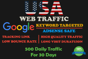 Usa Web Traffic Google Keyword Targeted Lowest Bounce Rate