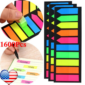 1600 Pieces Small Sticky Tabs Arrow Index Tabs For Note Classification Page Mark
