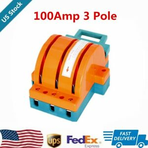 Safety 3 Pole Circuit Breaker Double Throw Disconnect Knife Switch 100amp Us