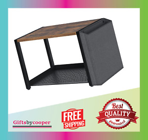 Printer Stand With Storage Bag 2 Tier Desk Stand Printer Wooden New