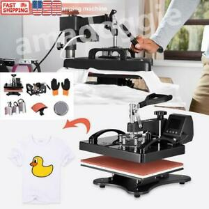 5 In 1 Heat Press Combo Machine 15 x15 Transfer Sublimation Kit For T shirts