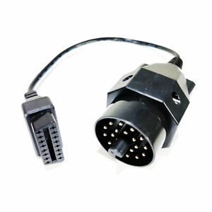 Diagnostic Connector Tool Adapter Cable For Bmw 20 Pin To Obd2 Female 16 Pin Usa