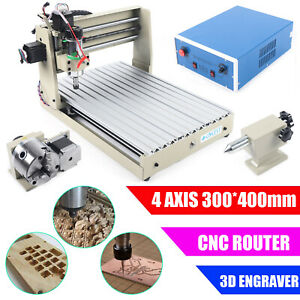 400w 4 Axis 3040 Cnc Router Engraver Pcb Engraving Drilling Milling Machine Usa