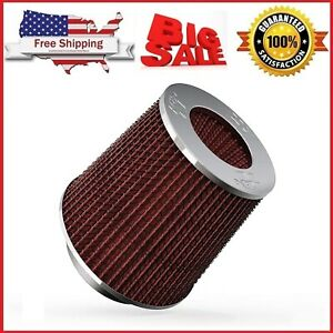 K n 4in Round Tapered Universal Air Intake Cone Filter Chrome Car truck suv