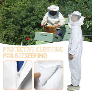 Usa Xl Professional Beekeeping Polyester Full Body Bee Keeping Suit W veil Hood
