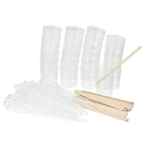 25 Pack 30ml Pp Plastic Graduated Beaker Clear With Stirring Sticks And Pipettes