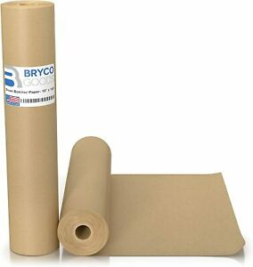 Brown Kraft Butcher Paper Roll 18 Inch X 100 Feet Brown Paper Roll For Wrappin