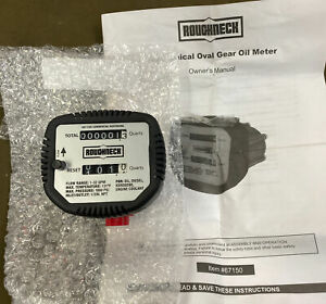 Roughneck 67150 Mechanical Oval Gear Oil Meter free S h