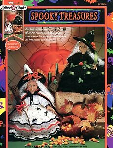Spooky Treasures Crochet Pattern Booklet Witch Air Freshener Doll