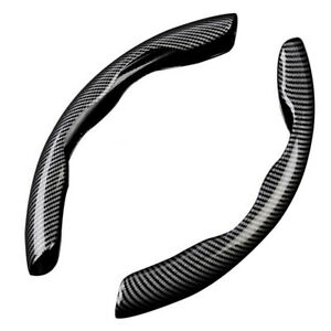 Carbon Fiber Look Universal Car Steering Wheel Booster Cover Non Slip Accessory