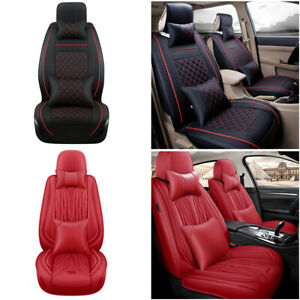 Auto Pu Leather Car Seat Cover Full Set In 11pcs Universal For Trucks Vans Suvs