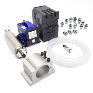Cnc Stone Wood Engraving 5 5kw Spindle Motor Kit Vfd Water Cooled 380 220v 7 4hp