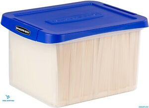 Heavy Duty Plastic File Storage Box With Hanging Rails Letter legal 1 Pack