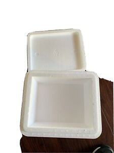 Styrofoam Container 13 X 9 X 11 Insulated Cooler Foam Box White Pre used