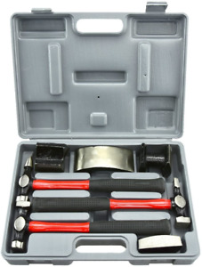 Neiko 20709a Heavy Duty Auto Body Hammer And Dolly Set 7 Piecerepair Kit For