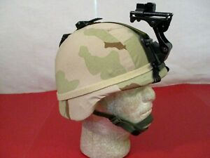 US Army PASGT Ground Troop Helmet made w Kevlar amp; Cover w NVG Bracket X Small #7 $169.99