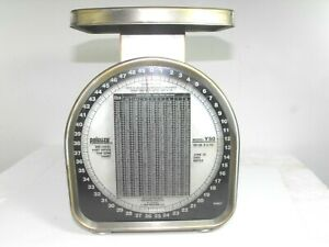 Pelouze Stainless 50 Lb Mechanical Shipping Scale Model Y 50 Heavy Duty Working