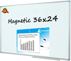 Magnetic Whiteboard white Dry Erase Board 36 X 24 Inch School Home Office Use
