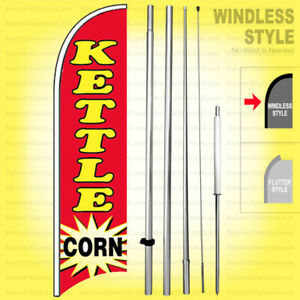 Kettle Corn Windless Swooper Flag Kit 15 Feather Banner Sign Rb h
